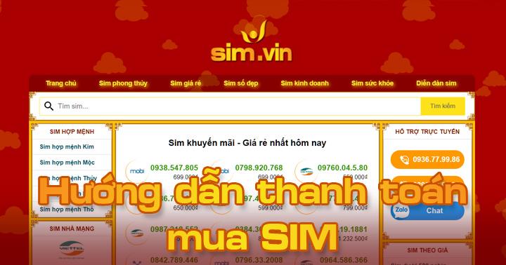 Hướng dẫn mua SIM và thanh toán