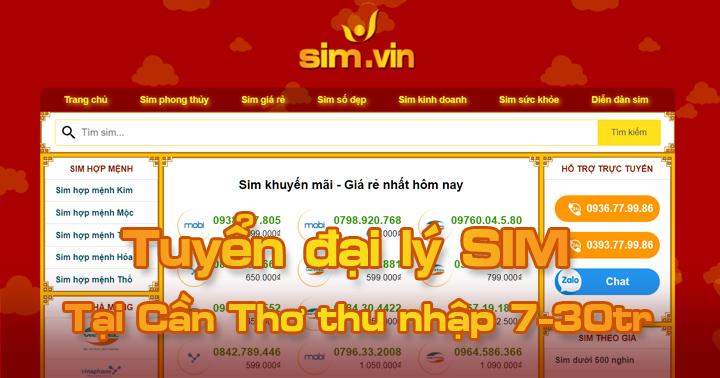 Sim.vin tuyển đại lý SIM tại Cần Thơ, đăng ký ngay hôm nay để trở thành Đại Lý Sim Số đẹp lớn nhất tại Cần Thơ của chúng tôi. Call ☎ 0936.77.99.86 #sim #dailySIm #Simdep