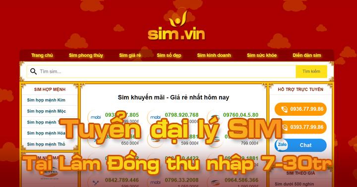 Sim.vin tuyển đại lý SIM tại Lâm Đồng, đăng ký ngay hôm nay để trở thành Đại Lý Sim Số đẹp lớn nhất tại Lâm Đồng của chúng tôi. Call ☎ 0936.77.99.86 #sim #dailySIm #Simdep