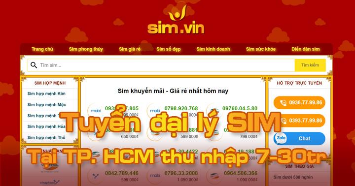 Sim.vin tuyển đại lý SIM tại HCM, đăng ký ngay hôm nay để trở thành Đại Lý Sim Số đẹp lớn nhất tại TP. HCM của chúng tôi. Call ☎ 0936.77.99.86 #sim #dailySIm #Simdep